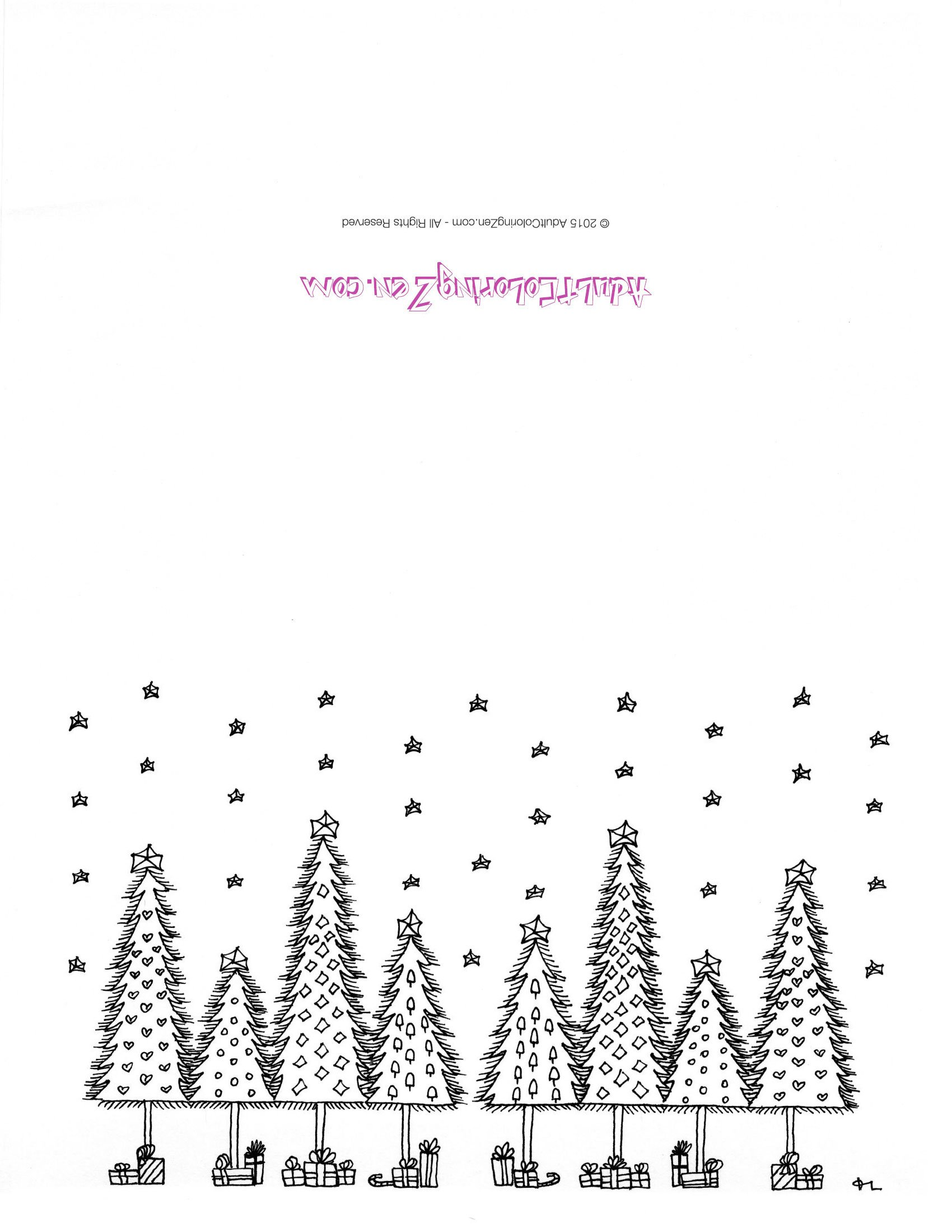 color your own holiday cards download and print